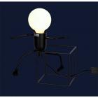 Настольная лампа Levistella 720T26016-W12 BK черный, лофт