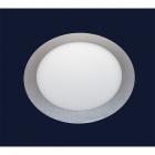 Светильник точечный встраиваемый Levistella 728SILVER-MBD-9W (круг) холодный LED
