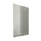 Шторка для ванны Weston W068 прозрачное стекло матовое/хром