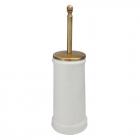 Ершик для унитаза напольный Migliore Luxury Mirella 17167 BR бронза/белая керамика