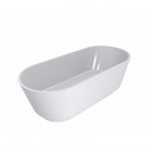 Отдельностоящая ванна из литого мрамора Miraggio SIENA 180x80 белая глянцевая