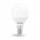 Лампочка светодиодная матовая Feron 25673 LB-745 G45 230V 6W 540Lm E14 6400K