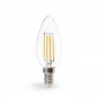 Лампочка светодиодная прозрачная Feron 40082 LB-160 C37 230V 7W 700Lm E14 2700K