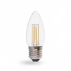 Лампочка светодиодная прозрачная Feron 40087 LB-160 C37 230V 7W 700Lm E27 4000K
