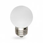 Лампочка светодиодная матовая Feron 25115 LB-37 G45 230V 1W E27 6400K белый