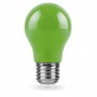 Лампочка светодиодная матовая Feron 25922 LB-375 A50 230V 3W E27 6400K зеленый