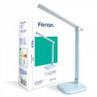 Настольный светильник Feron DE1725 24230 голубой LED 6400K