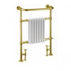 Полотенцесушитель комбинированный Burlington Trafalgar R1 GOL золото
