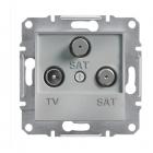 Розетка TV/SAT/SAT без рамки концевая Schneider Electric Asfora алюминий/сталь/бронза/антрацит (1 дБ)