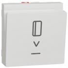 Выключатель карточный с подсветкой Schneider Electric Unica New белый/алюминий/антрацит