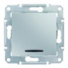 Выключатель одинарный с подсветкой без рамки Schneider Electric Sedna алюминий/титан/графит
