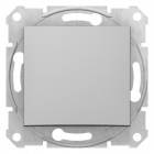 Выключатель одинарный проходной без рамки Schneider Electric Sedna алюминий/графит/титан, 2300 W