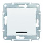 Выключатель одинарный кнопочный с подсветкой без рамки Schneider Electric Sedna белый/слоновая кость