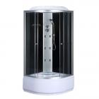 Гидромассажный бокс Bravo Bzura H90B профиль сатин, стекло прозрачное, задние стенки черные