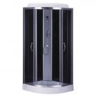 Душевой бокс Bravo Wislok L90B профиль сатин, стекло прозрачное, задние стенки черные