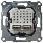 USB розетка двойная Schneider Electric Merten MTN4366-0100