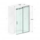Душевая дверь в нишу Weston Shower Doors W021 черный профиль матовое стекло