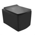 Чаша подвесного унитаза с сидением Jaquar Kubix KUS-BLM-35953BIUFSM Черный Матовый