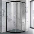 Полукруглая душевая кабина Asignatura Velvet 19020802 матовый черный/прозрачное стекло