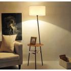 Торшер со столиком и абажуром Terra Svet Wood 05553-1f bk