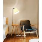 Торшер со столиком и абажуром Terra Svet Nordic Wood Style 05561/f