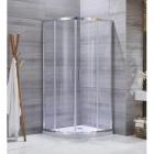 Полукруглая душевая кабина Santeh 1701 профиль, алюминиевый, хром, стекло прозрачное