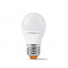 Светодиодная лампа матовая Videx E Series G45e 3,5W E27 220V 350lm