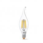 Светодиодная лампа прозрачная Videx NeoClassic C37Ft 6W 4100K E14 220V 880lm