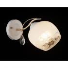 Настенный светильник хрустальный бра Sirius B А2960/1W E27, белый-золото
