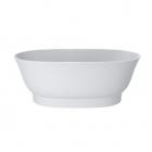 Отдельностоящая ванна из литого мрамора Miraggio Molly 160x80 белая
