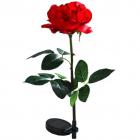 Декоративный уличный светильник-роза вкапываемый на солнечной батарее Sirius 28010, LED 6500K, 2W (время работа - до 8 часов)