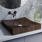 Раковина деревянная Pelicano Demure 50x50 черный ясень
