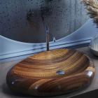 Раковина деревянная Pelicano Galaxy 65x48 черный ясень