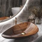Раковина деревянная Pelicano Desire 62x38 черный ясень