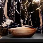 Раковина деревянная Pelicano Vertigo 61x38 черный ясень
