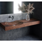 Раковина деревянная Pelicano Meadow 120x50 черный ясень