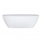 Ванна из литого мрамора Miraggio Mirasoft Estella 168x83 белая матовая