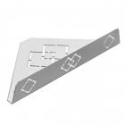 Угловая полочка Laris Retro L нержавеющая сталь