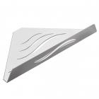 Угловая полочка Laris Wawe L нержавеющая сталь